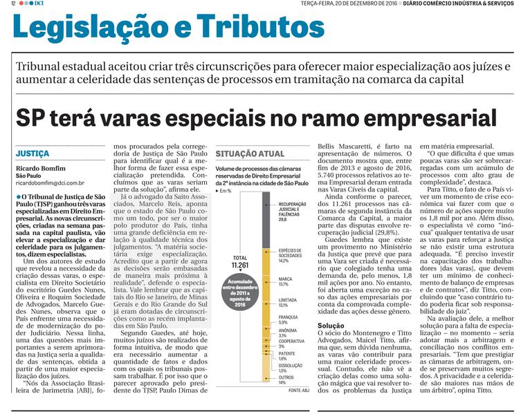 Jornal DCI de 20 de dezembro de 2016
